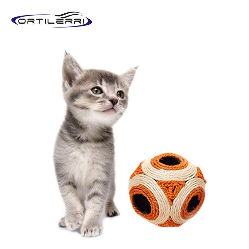 Dog Throw Up On Sisal Rug: Ortilerri Cat Dog Toys Sisal Feather Materials Red Orange