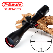 T-Eagle SR 8X44 SFSS Hunting Riflescopes Side Parallax Glass Etched Reticle Turrets Lock Reset Fixed Magnification 8X Scope