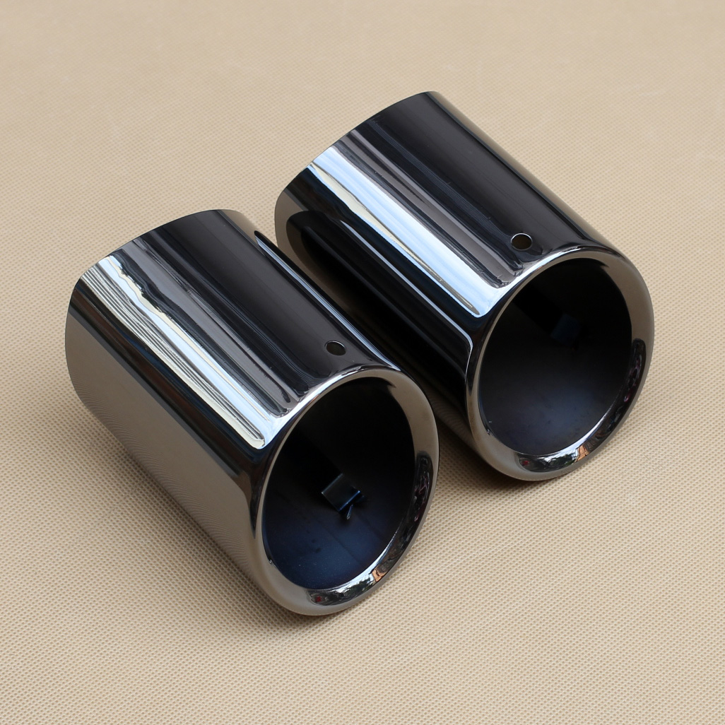 Black Exhaust Muffler Silencer Tailpipe Pipe Cover Part Trim Fit For BMW 528i 530i 535i 535d