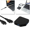 USB 3.1 Тип C 2 Порта USB 3.0 Hub + SD/SD Micro Memory Card Reader для Macbook