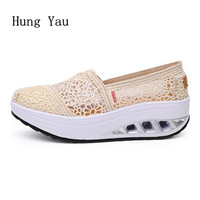 Women Shoes Flats 2018 Fashion Casual Shoes Woman Flat Toe Shallow Beautiful Lace Breathable Good Quality Walking Loafers
