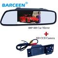 2en1 CCD opinión posterior del coche cámara de aparcamiento para Hyundai IX35 2016 reversa de reserva de la cámara + monitor del espejo de coche del coche