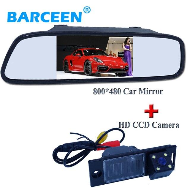 2in1 CCD вид сзади автомобиля парковка камера для Hyundai IX35 2016 автомобиля резервную камера заднего вида + автомобильное зеркало заднего вида монитор