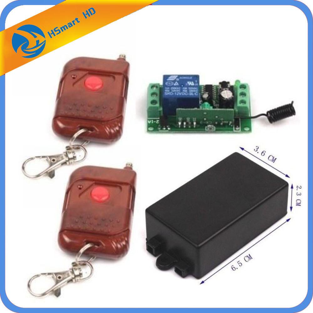 New DC 12V 10A Relay 1CH wireless Remote Control Switch Transmitter+ Receiver for Access Control Systems 2 Wireless Control new control relay cad series cad32 cad32sdc cad 32sdc 72v dc
