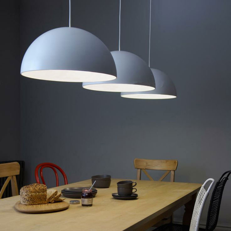 Simple And Beautiful Hemispherical Metal Pendant Light