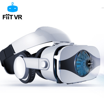 Fiit VR 5F headset version Fan cooling virtual reality glasses 3D glasses Deluxe Edition helmets smartphone Optional controller 1