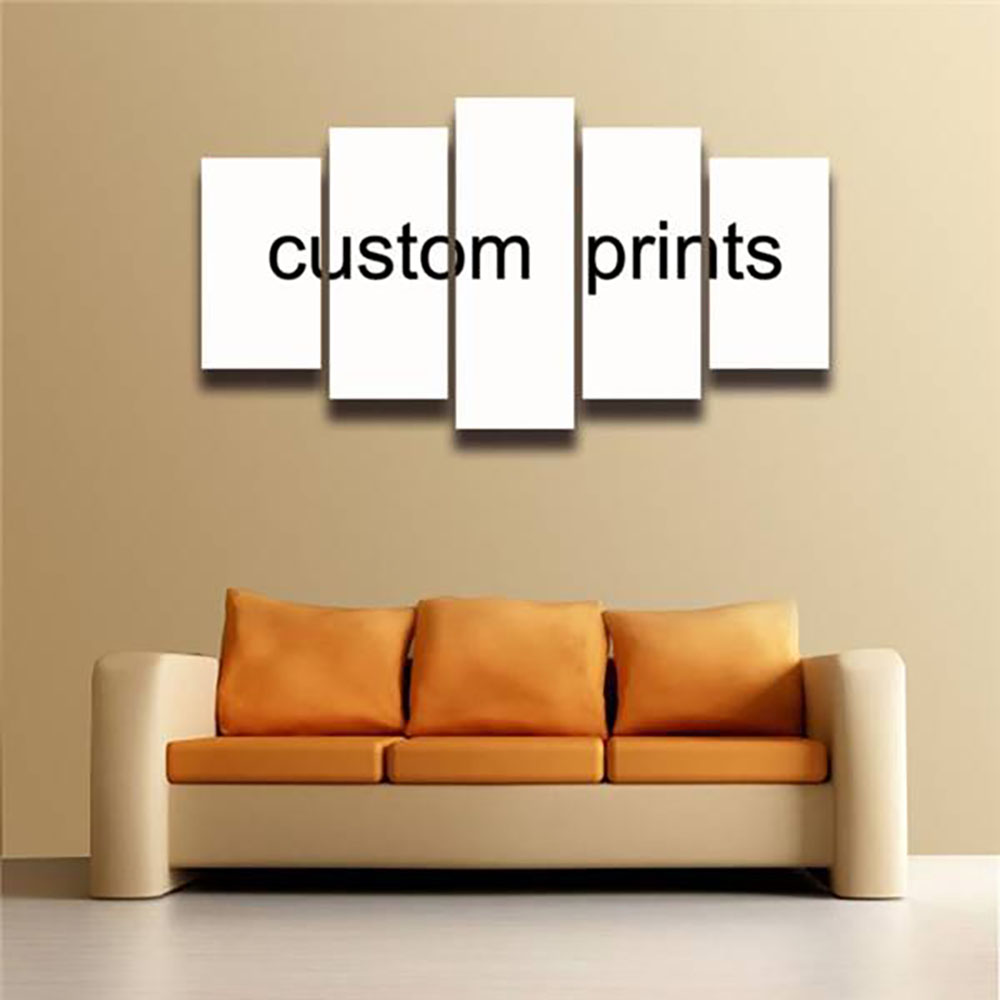 5 Panels Custom Canvas Prints Painting Wall Art Living Room Home Decor Poster Supplier Wholesale bulk dropshipping via CSV excel-in Painting u0026 Calligraphy ... & 5 Panels Custom Canvas Prints Painting Wall Art Living Room Home ...