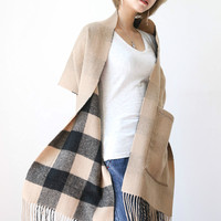 Scarf 2018 Tartan Cashmere Wool Scarf Women Plaid Blanket Scarf New Designer Wool Basic Shawls Women's Scarves and Wraps