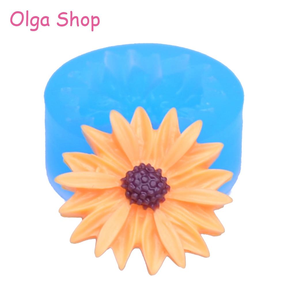 яркий цветок гибкого силикона наёмите плесень мини смолы формы помады gumpaste( глины фимо смолы и воска эпоксидной десен пасты помадки hyl054