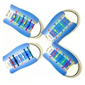12 Pçs/lote Preguiçoso Cadarços Luminosos Cadarço Cadarços de Silicone Moda Colorido Cadarços Elásticos de Silicone # B2014