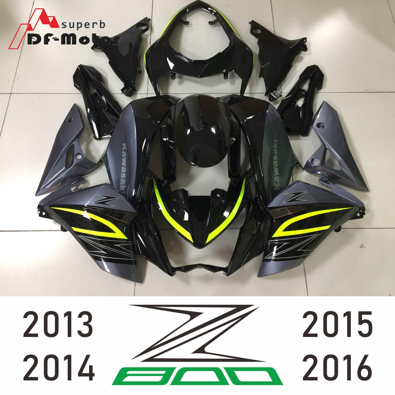 For Kawasaki Z800 2013 2014 2015 2016 Z-800 13 14 15 16 Bodyworks Aftermarket Motorcycle Fairing (Injection Molding)