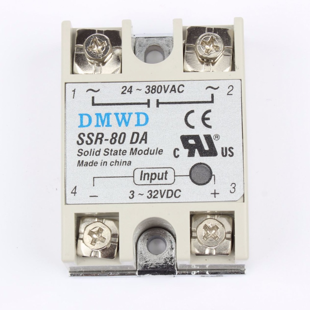 TOP BRAND DMWD solid state relay SSR-80DA 80A DC TO AC SSR 80DA relay solid state 3-32 DC TO 24-380V AC brand new dc to ac ssr 100da solid state relay module 100a 3 32vdc 24 380vac dc ac solid state relay