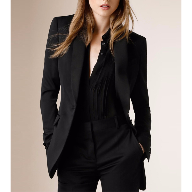 Top Fashion Hot Sale Regular Solid Single Button No Spandex Blazer Women Women Blazers And Jackets Fashion Slim Jacket+Pants