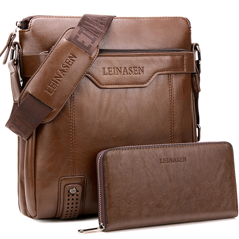 Men Bag Shoulder Leather Messenger Bag Men Leather Briefcase Antifreeze Shoulder Bags For Men Bussiness Bag Mens Office Bags
