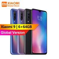 Global Version Xiaomi Mi9 Mi 9 6GB RAM 64GB ROM Cellphone Snapdragon 855 Octa core 6.39 FHD Screen AI Triple Camera Fingerprint