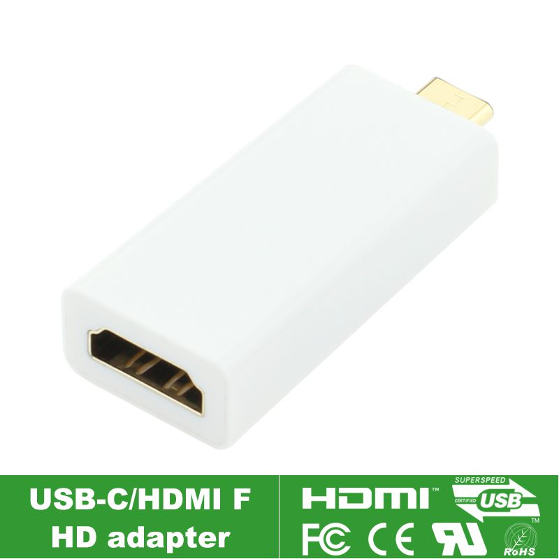 (50pieces/lot) HDMI 4K x 2K USB-C USB 3.1 Type C Male to HDMI Female Adapter Connector ,Type-c Converter By DHL Fedex 4k x 2k usb 3 1 type c to hdmi