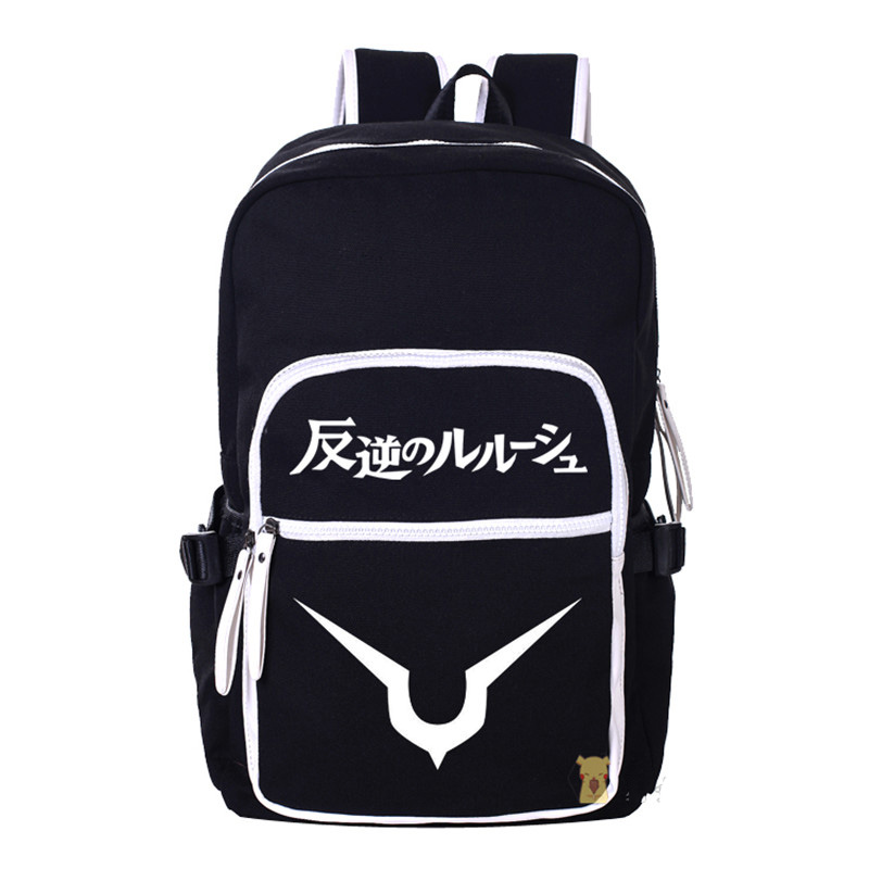 Anime Fashion Code Geass Backpack Women Men Canvas Laptop School Bag High Capacity Travel Backpacks