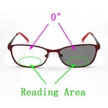 Dwuogniskowe okulary fotochromowe czytanie lupa do okularów dla mężczyzn kobiety kocie oko okulary starczowzroczność wyglądają w pobliżu daleko Oculos L3