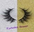 Free shipping 1pcs/lot 2001 cheap long  false eyelashes 100% mink fur lashes
