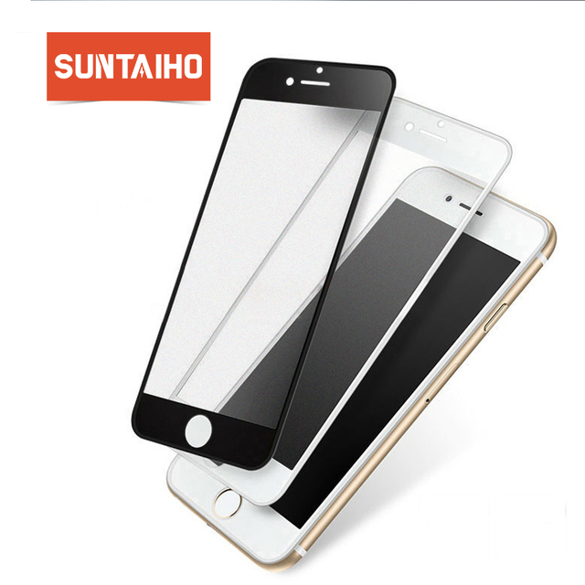 buy online c50c6 46c64 US $2.93 42% OFF Suntaiho 3D Frosted Anti blue light For iPhone 8 X  Tempered Glass Full Curved Screen Protector Film For iPhone 7 Plus Glass  Film-in ...