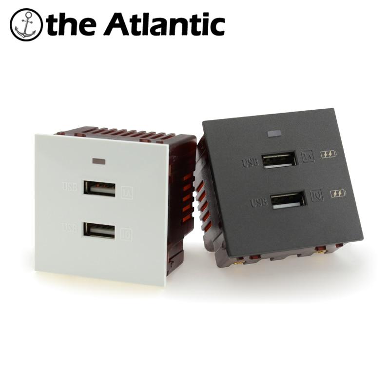 Blanc UK Plug double USB Socket 13 A 2 Gang Electric Wall Sockets avec 2 USB Outlet