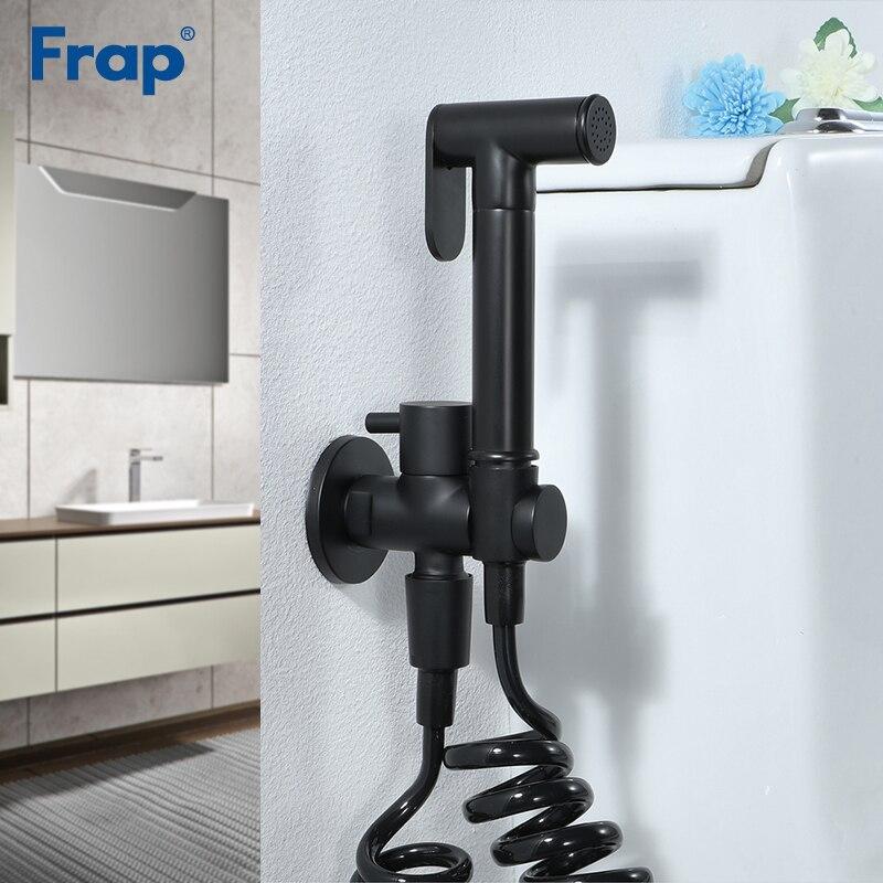 Frap Bidets bathroom black bidet toilet faucet bidet mixer hygienic shower muslim shower single hole portable
