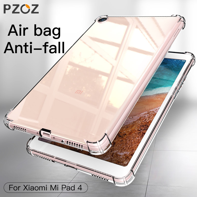 PZOZ For Xiaomi mi pad 4 mipad 4 Case Soft TPU Clear Shockproof Protective Shell For Xiaomi MiPad4 8 inch Protector Tablet Case