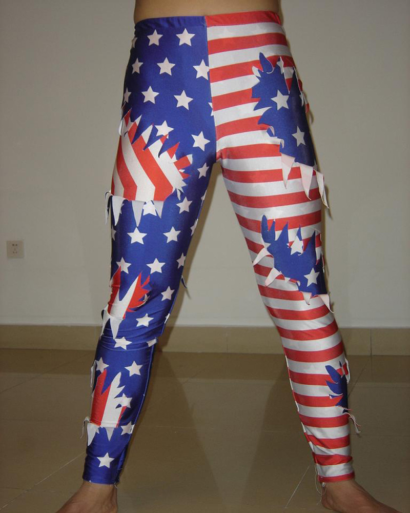 Custom Lycra Spandex USA Flag design Youth Wrestling Pants Tights H022 ...