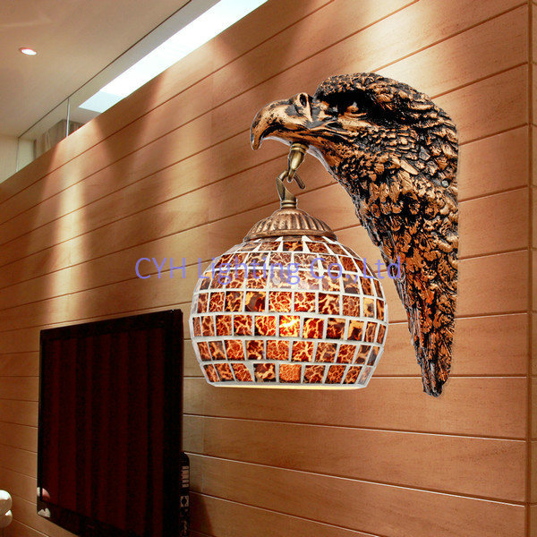 Decorative Lamp Shades Free shipping decorative eagle design wall lamp with mosaic glass free shipping decorative eagle design wall lamp with mosaic glass lamp shade for gallery shipped in audiocablefo