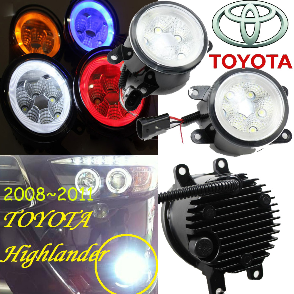 Car-styling,Camry daytime lamp,chrome,LED,Free ship!2pcs,highlander fog lamp,car-detector;Option:Red,white,blue,yellow car styling highlander daytime light 2012 2014 free ship led chrome 2pcs set highlander fog light car covers highlander