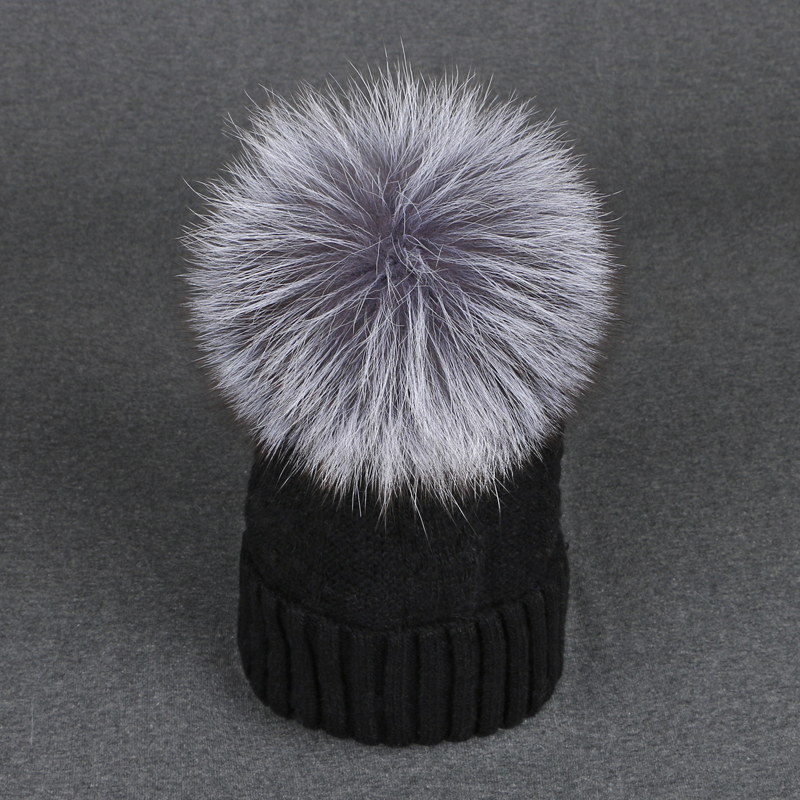 2017 Winter Hats for Women mink fox fur ball cap pom poms hat Wool girl 's hat knitted beanies cap branded new thick female cap mink and fox fur ball cap pom poms winter hat for women girls wool hats knitted cotton beanies skullies caps thicken female hats