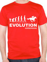 Personalized T Shirt Custom T Shirt Broadcloth Evolution Horse Riding Horses Sportser Equestrian Fun O Neck