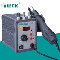 QUICK 858D 220V 700W Hot Air Soldering Station LED Digital Display Soft Wind Hot Air Heat Gun SMD BGA Rework Station