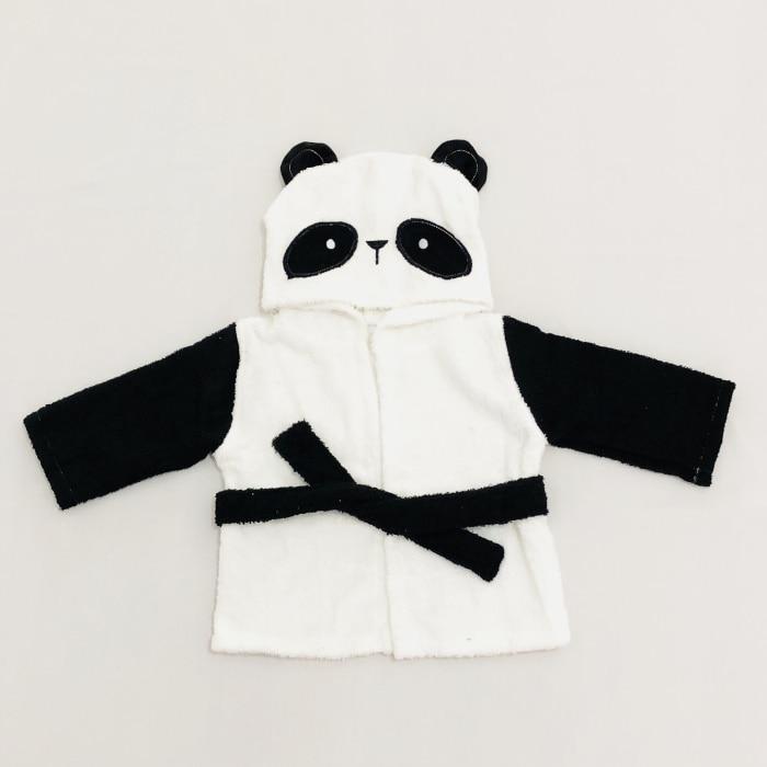 Розничная ; 16 дизайнов; детское банное полотенце с капюшоном; купальный халат с изображениями животных; детские пижамы с героями мультфильмов - Цвет: black white panda