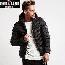hot deal buy 2017 winter sweatshirt men ultra thin light hooded down  hoodies  collar solid jacket for male outerwear coats
