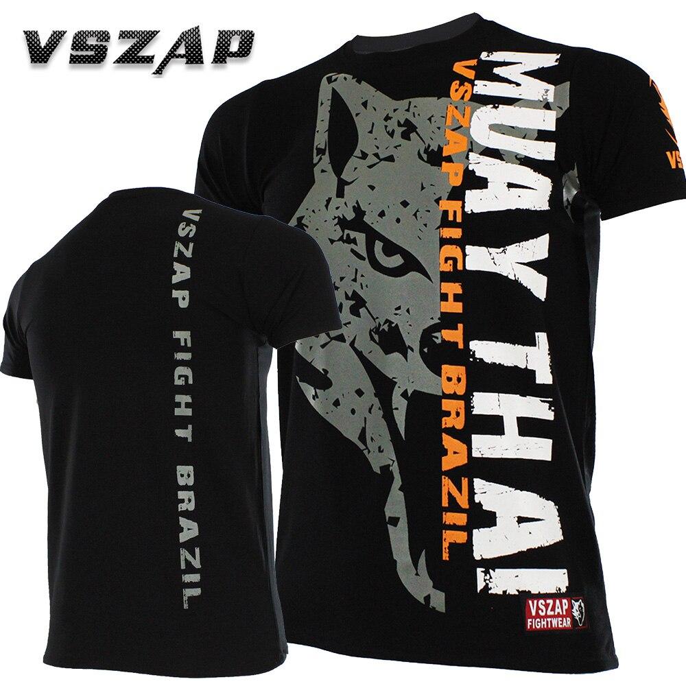 Muay Thai VSZAP FIGHT BRAZIL MMA Jerseys Boxing Team T Shirts Running