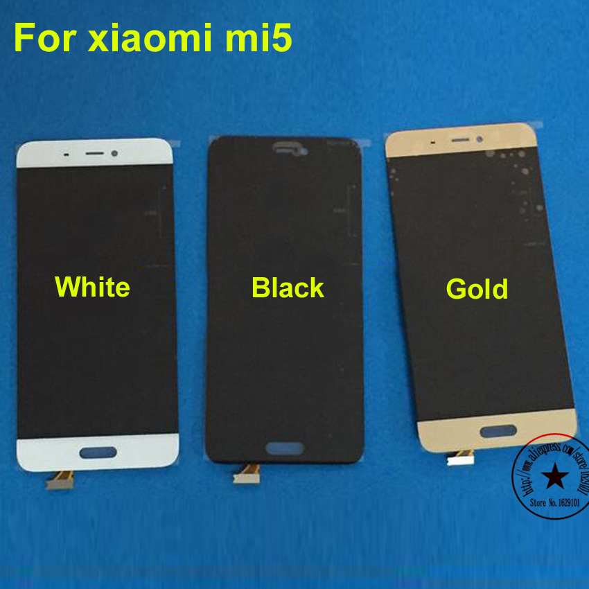 ФОТО Black white gold NEW Full LCD Display Touch Screen Digitizer Assembly For Xiaomi Mi5 M5 mi 5 Mobile Phone Replacement