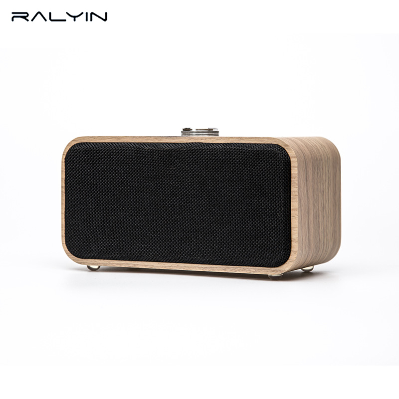 Ralyin Bluetooth Speakers with Super Bass and Subwoofer Bluetooth Speaker Wooden, Portable 3D Stereo Music Sound Speaker exrizu ms 136bt portable wireless bluetooth speakers 15w outdoor led light speaker subwoofer super bass music boombox tf radio