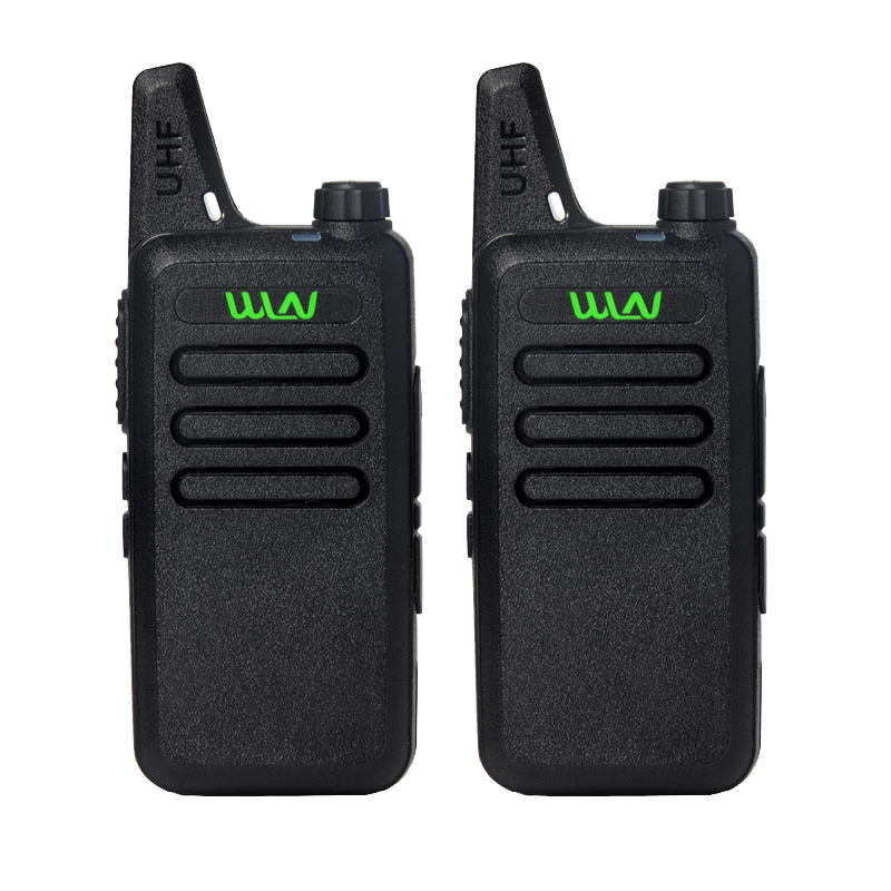 2 Pcs WLN KD-C1 Walkie Talkie UHF 400-470 MHz 5W Power 16 Channel  MINI-handheld Transceiver