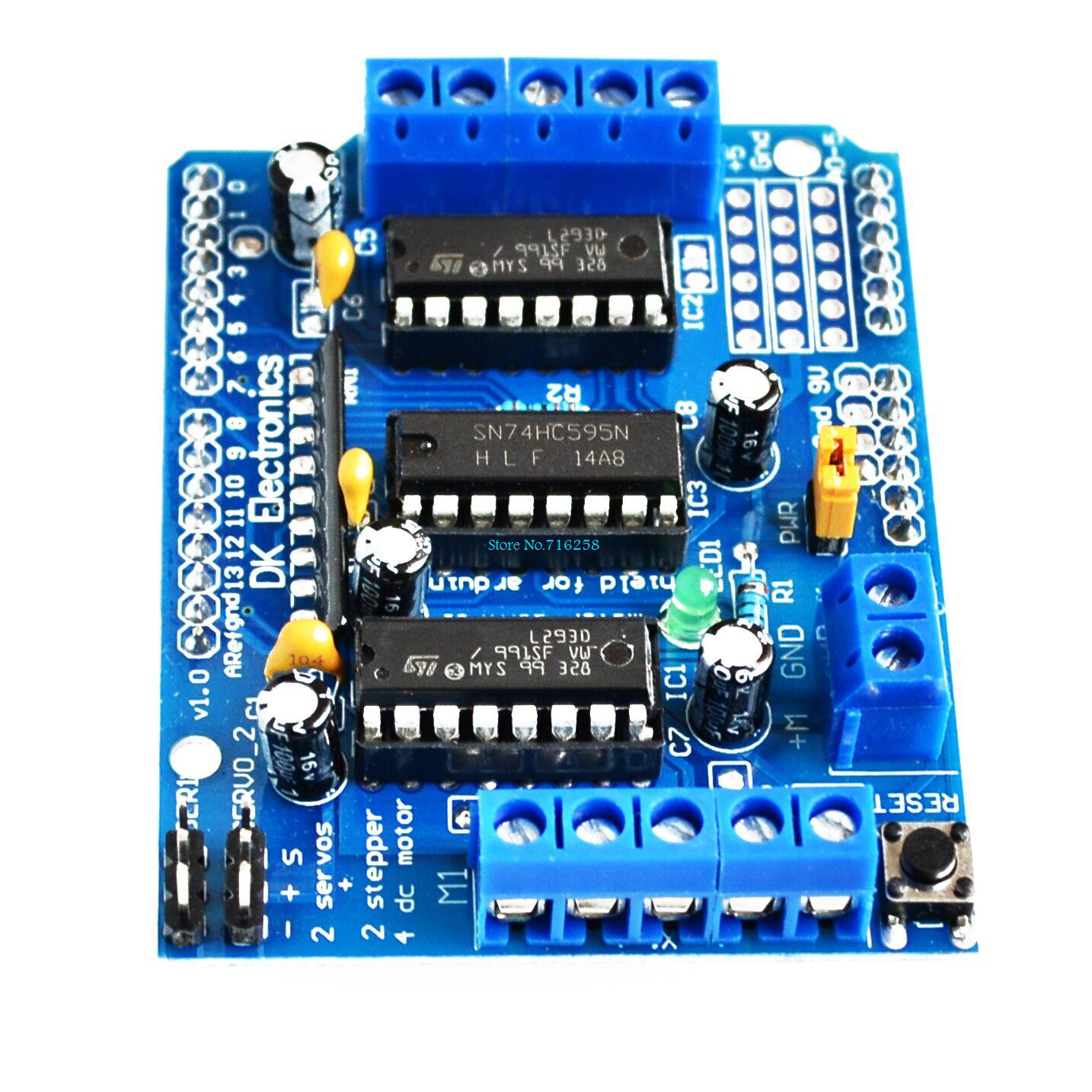 10pcs Lot L293d Motor Control Shield Drive Expansion Board For Arduino Circuit In Integrated Circuits From Electronic Components Supplies On