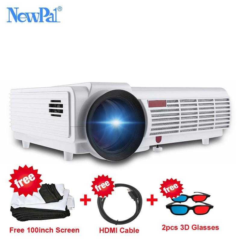 5000 lumen 3D Home-projektor Volles HD Unterstützung 1920*1080 Pixel Video TV WIFI Android Projektor Mit Freies 100 zoll Bildschirm