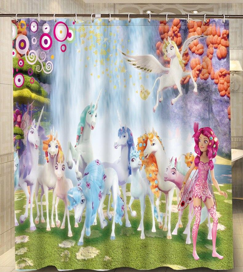 Mia And Me Horse Waterfall Best Gift Modern Classical Custom Shower Curtain Waterproof 160x180cm Bathroom With Hooks
