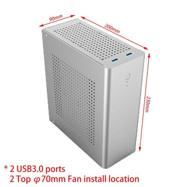 Seckill i7 5557U! DIY Wolferdtech Mini HTPC  with i3 7100, GTX750 discrete graphic, pre-install Windows 10 64, DIY Alloy case