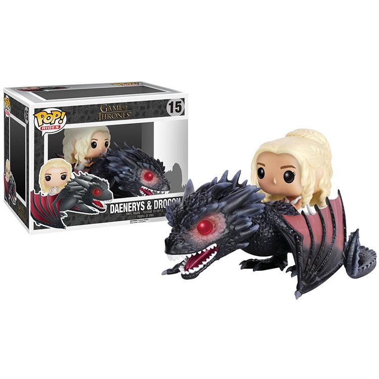 Funko POP Game of Thrones Daenerys & Drogon Figure Doll POP High Quality Handmade Collection Figure Car Decoration With Box