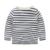 Criança 100% t-shirt de algodão meninos top clássico listrado camiseta roupa dos miúdos meninos da longo-luva T-shirt da primavera e outono