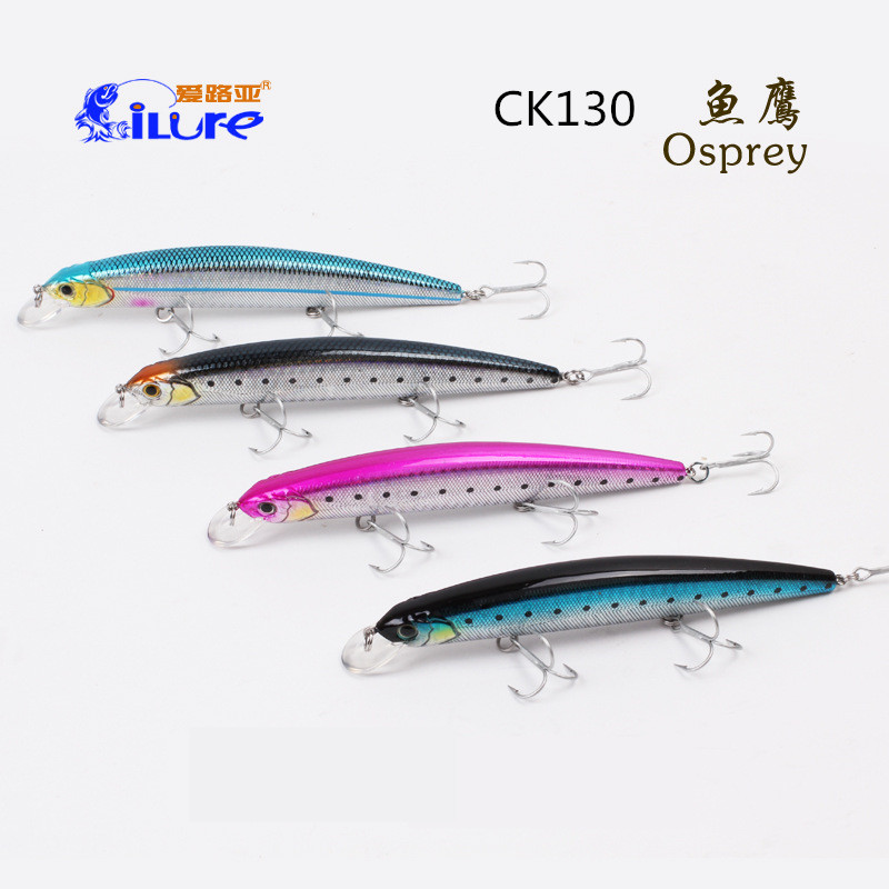 iLure 133mm 20g Fishing Lure Minnow hard bait with 3 fishing hooks fishing tackleMulti Artificial Bait Lures 3D eyes