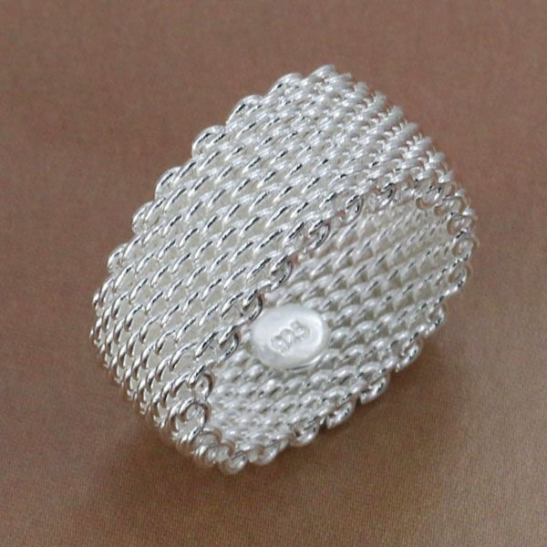 R040 Size:6,7,8,9,10 WholesaleSilver plated ring, silver fashion jewelry, Web Ri