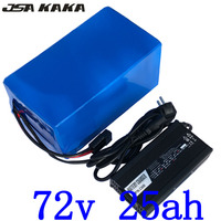 72V battery pack 72V 25AH Scooter battery 3000W 72V 25AH Lithium Electric Bike battery use 3.7V 5000mah 26650 cell +5A charger