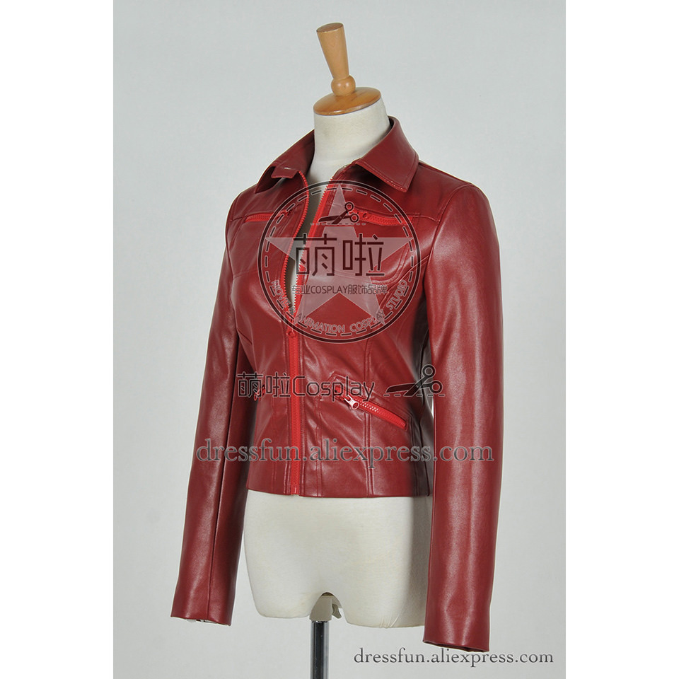 6758ad4ba US $79.99 |Once Upon A Time Cosplay Emma Swan Costume Red Leather Jacket  Uniform Outfits Suit Halloween Fashion Party Fast Shipping -in Movie & TV  ...