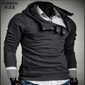 LURRSN Brand US and EU Style Tops Clothe 2017 NEW Men's Zipper Hooded Cotton Hoodie Sweatshirt Men Fashion Solid Unique Hoodies